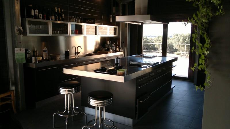 Stunning Cuisine Noir Mat Et Bois Contemporary - Design Trends