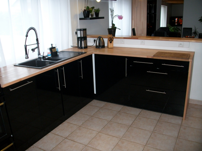 cuisine ikea noire mat top kitchen ideas pinterest. Black Bedroom Furniture Sets. Home Design Ideas