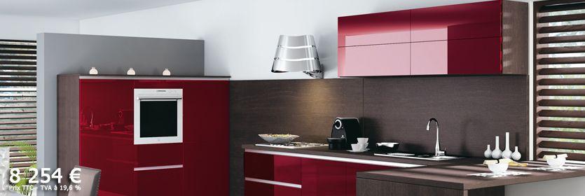 cuisine rouge mobalpa. Black Bedroom Furniture Sets. Home Design Ideas