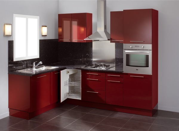 Zellige Marocain Salle De Bain : belle cuisine rouge nina