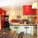 cuisine rouge orange