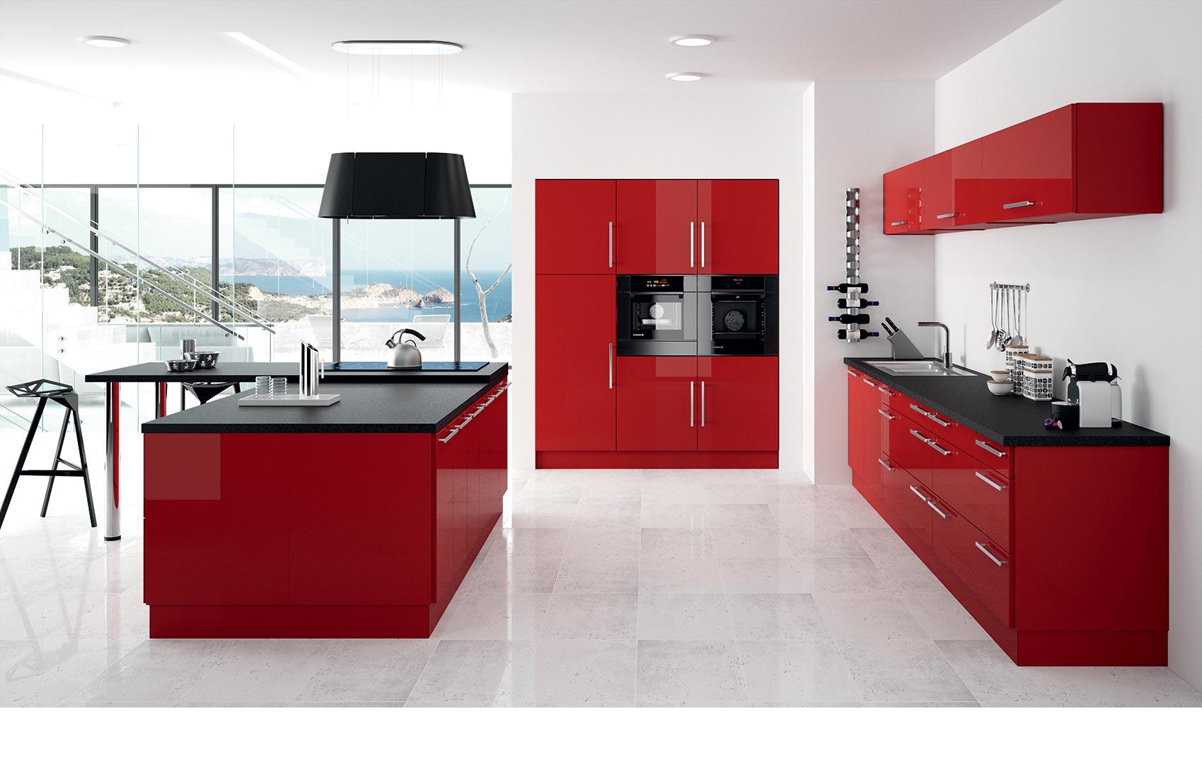 Photo cuisine rouge rubis