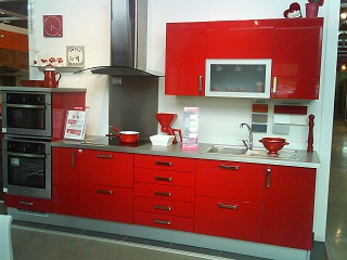 cuisine twist rouge lapeyre. Black Bedroom Furniture Sets. Home Design Ideas
