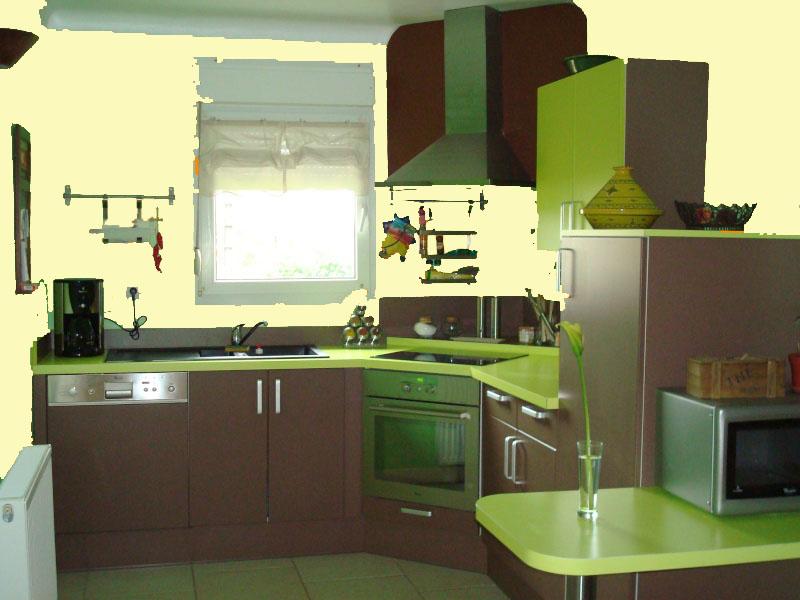 Cuisine vert amande - Deco cuisine vert ...