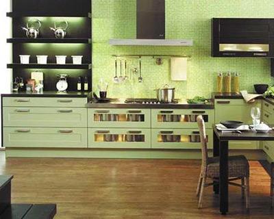 Cuisine Vert Amande Photo Deco