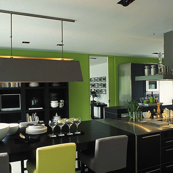 cuisine vert fonce. Black Bedroom Furniture Sets. Home Design Ideas