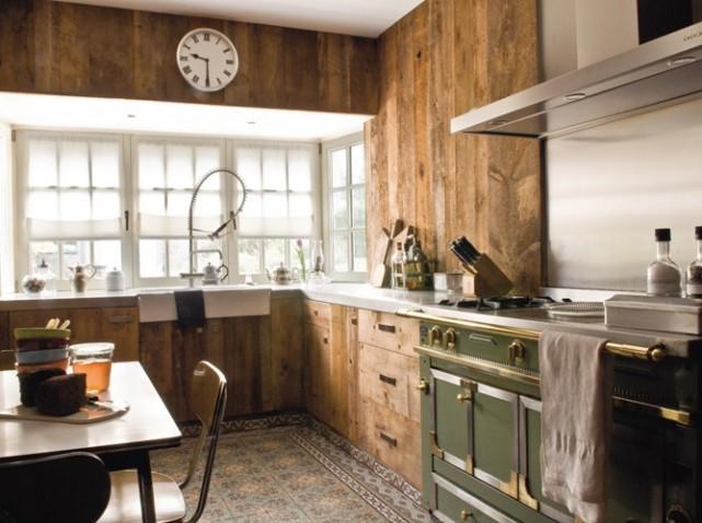 Deco cuisine bois for Exemple deco cuisine
