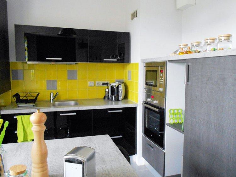 Deco cuisine jaune et gris - Cuisine jaune et grise ...