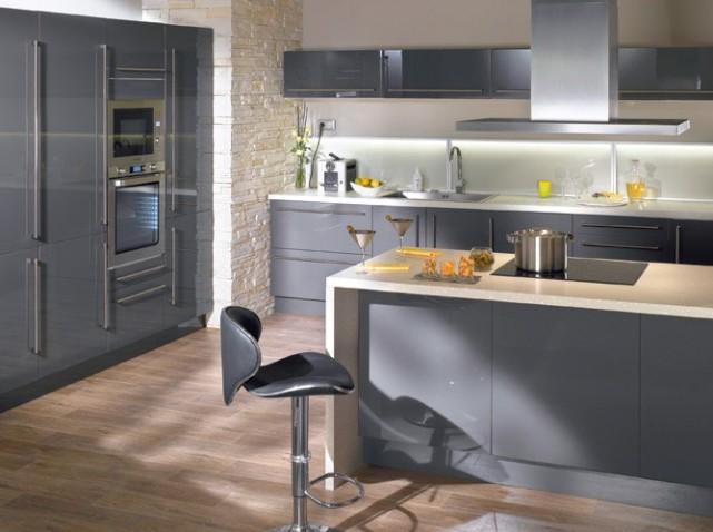 deco cuisine noir et gris