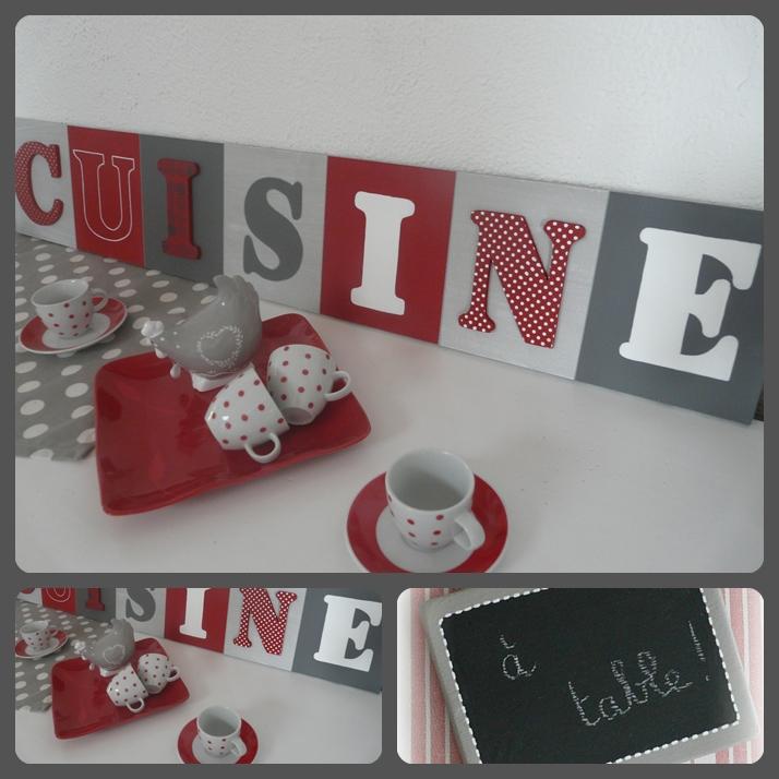 Deco cuisine tableau - Objet deco cuisine rouge ...