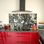 cuisine abstrakt rouge