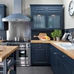 cuisine ikea noir et bois