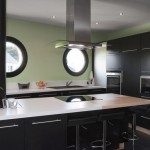 cuisine noir laquee