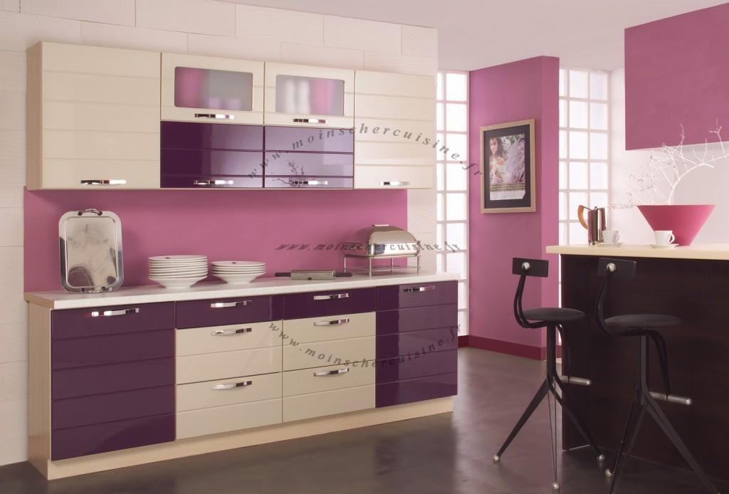 Cuisine violet vert for Deco de cuisine vert