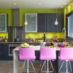 cuisine violet vert
