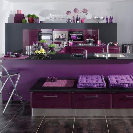 Photo cuisine violet vert