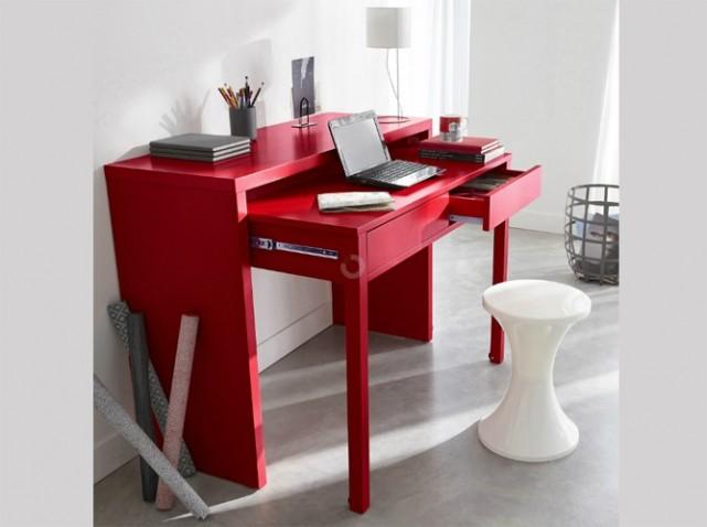 Bureau de chambre rouge: bureau chambre ado coucher blanc fille pour
