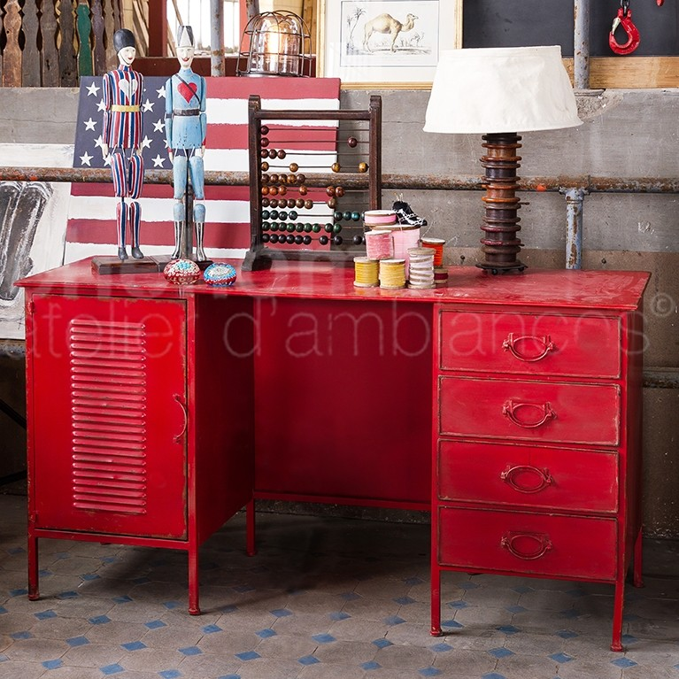 D coration bureau rouge for Bureau rouge