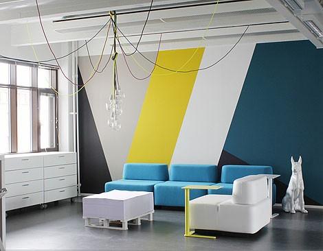 décoration bureau peinture