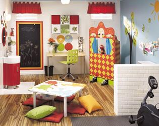 D coration d 39 une salle de jeux - Idee deco salle de jeux ...