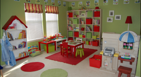 d coration d 39 une salle de jeux. Black Bedroom Furniture Sets. Home Design Ideas