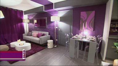 d co salle manger violet. Black Bedroom Furniture Sets. Home Design Ideas