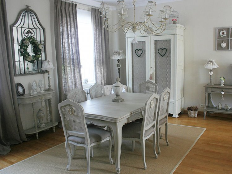 decoration salle a manger gris et blanc. Black Bedroom Furniture Sets. Home Design Ideas
