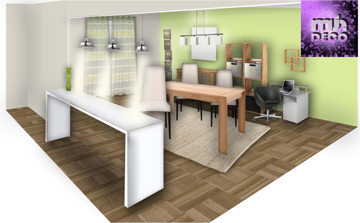 Photo Décoration Salon Salle à Manger Cuisine - Idee deco salon salle a manger pour idees de deco de cuisine