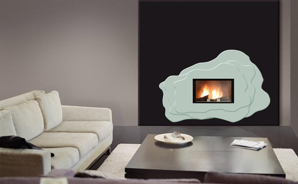 idée déco cheminée design