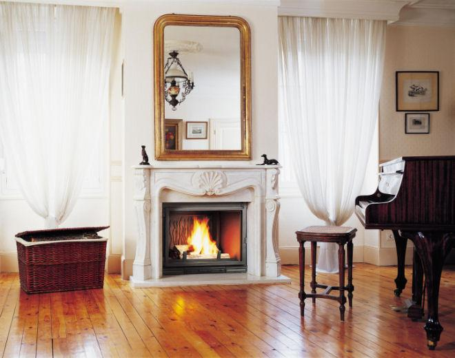 D co chemin e marbre - Encadrement cheminee bois ...