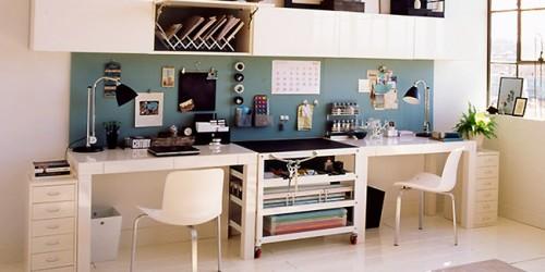 belle décoration bureau a la maison - Photo Déco