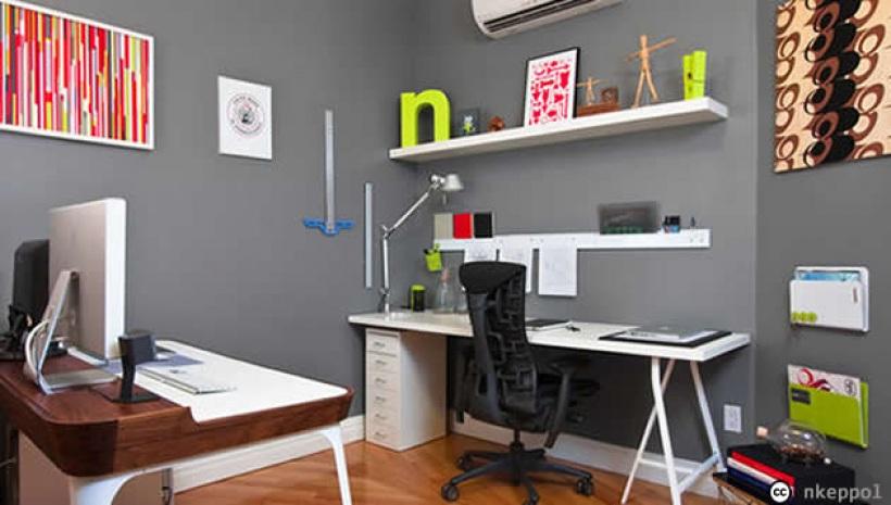 aménagement décoration bureau chambre