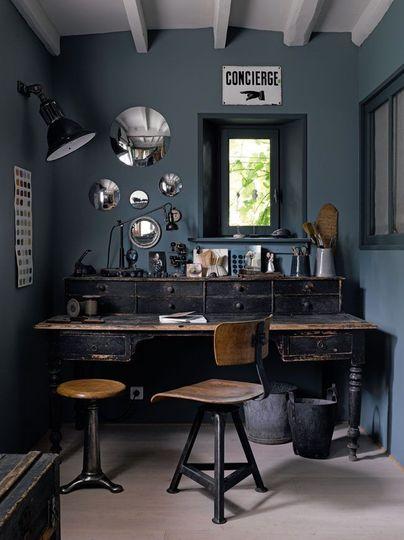 d coration bureau style industriel. Black Bedroom Furniture Sets. Home Design Ideas
