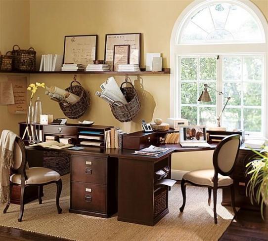 d coration dun bureau domicile. Black Bedroom Furniture Sets. Home Design Ideas