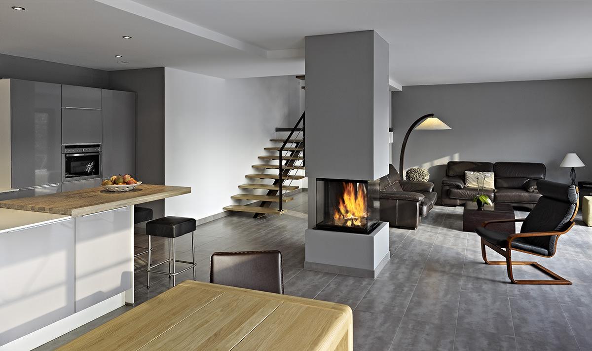 Emejing Deco Salon Moderne Avec Cheminee Gallery - Design Trends ...