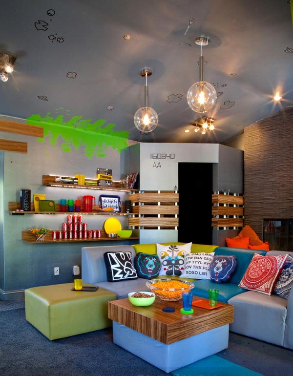 d coration salle de jeux ado. Black Bedroom Furniture Sets. Home Design Ideas