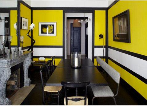 D co salle manger jaune for Salle a manger jaune moutarde