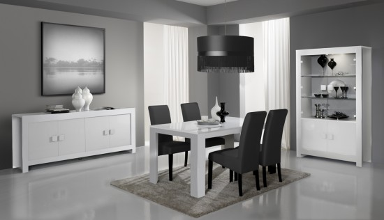 d co salle a manger noir et blanc. Black Bedroom Furniture Sets. Home Design Ideas