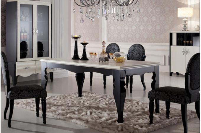 exemple décoration salle à manger baroque - Photo Déco