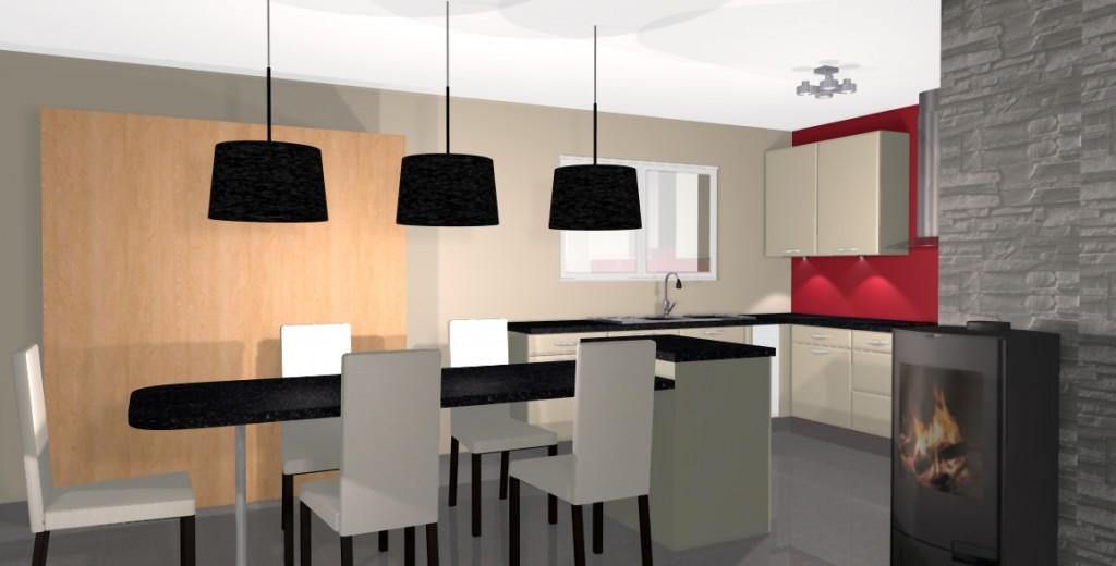 modele cuisine salle a manger ~ intérieur & meubles - Cuisine Ouverte Sur Salle A Manger Et Salon