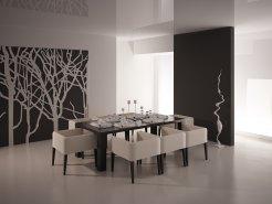 D coration salle manger noir for Deco salle a manger noir et blanc