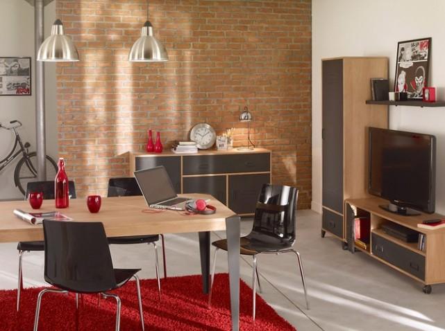 d coration salon salle manger moderne. Black Bedroom Furniture Sets. Home Design Ideas