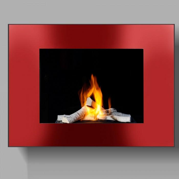 cheminee ethanol rouge
