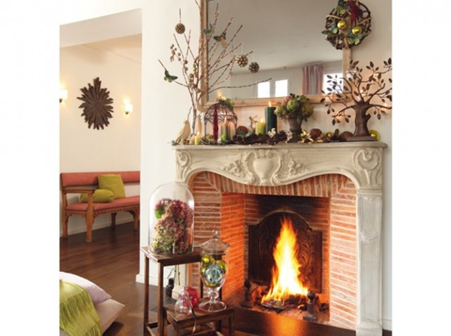 d coration chemin e pierre. Black Bedroom Furniture Sets. Home Design Ideas