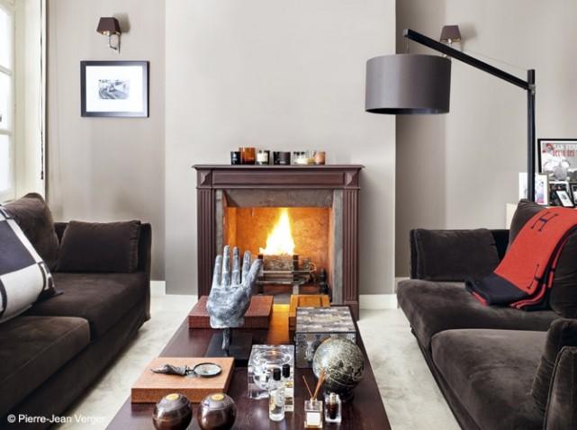 décoration salon cheminee