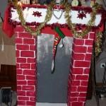 décoration noel cheminée carton