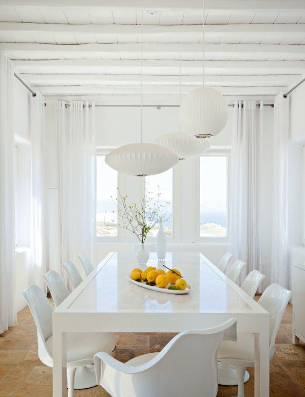 D co salle manger blanc - Idee decoration salle a manger ...
