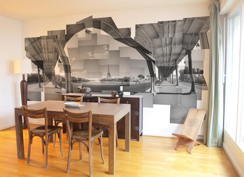 D co salle manger en papier peint for Idee deco salle amanger