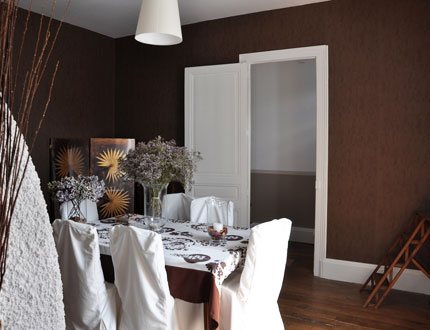 Photo Decoration Deco Salle A Manger En Papier Peint