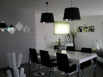 D co salon salle manger moderne - Salon epure moderne ...